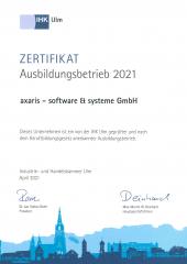 Zertifikat Ausbildungsbetrieb 2021